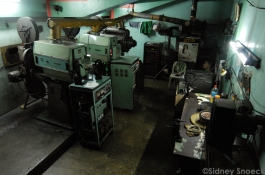 image of the projection room of the Dilson Theater in Recto Ave., Manila